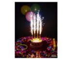 Бездимен фонтан за торта - цветни, 4 бр., 15 см