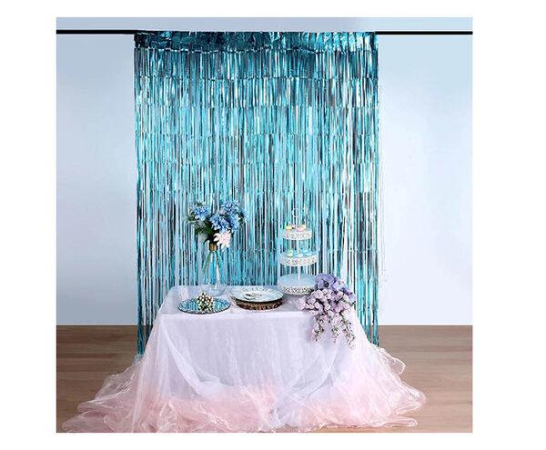 Парти завеса цвят син/blue