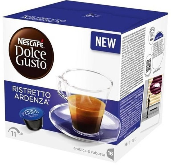 NESCAFE Dolce Gusto Espresso Ristretto Ardenza кафе капсули, 16 напитки