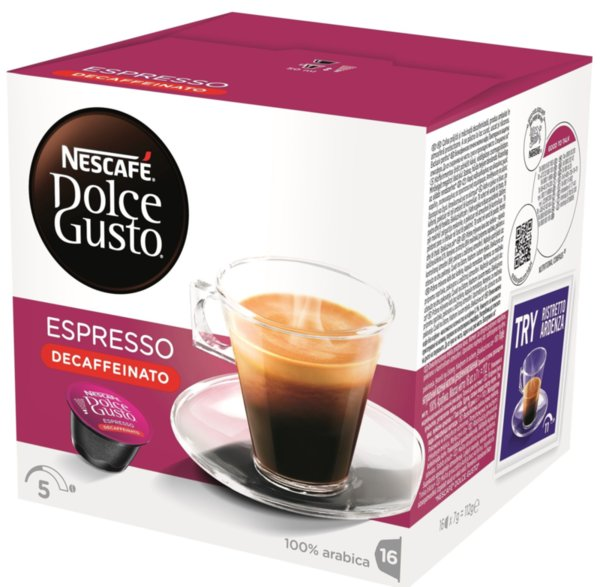NESCAFE Dolce Gusto Espresso Decaffeinato кафе капсули, 16 напитки