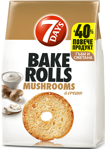 Bake Rolls 7 days с гъби и сметана 112гр