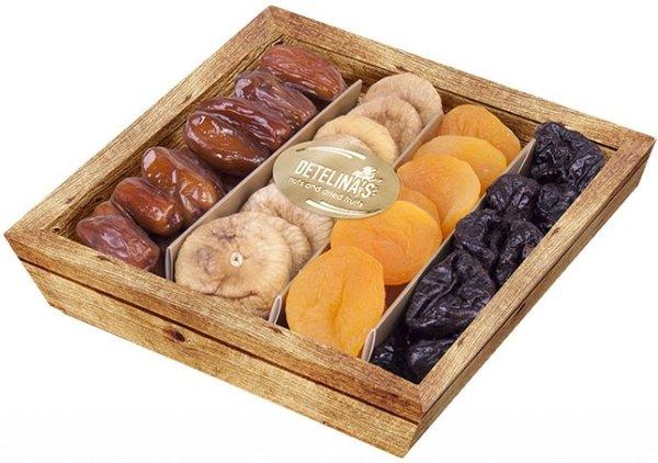 Коктейл сушени плодове Детелина 400гр - кутия