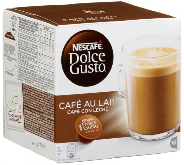 Nescafe Dolce Gusto Cafe Au Lait кафе капсули, 16 напитки