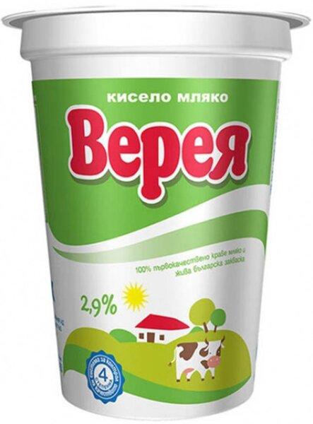 Кисело мляко Верея 2.9 % 400 г