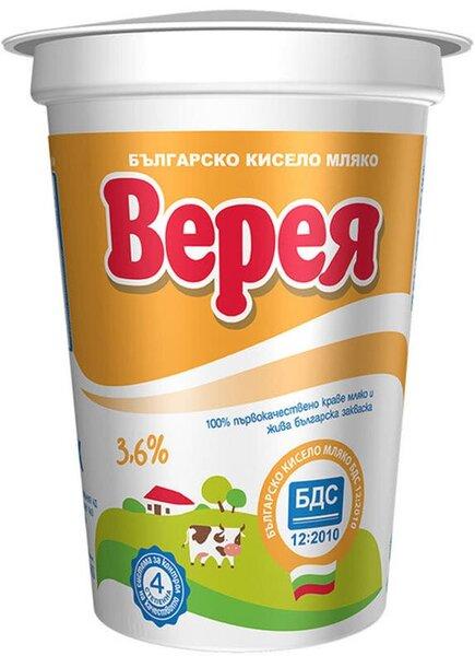 Кисело мляко Верея БДС 3.6 % 400 г
