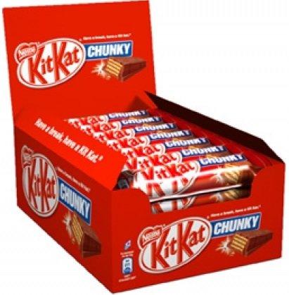 Шоколадов десерт KIT KAT Chunky млечен - кутия 24брх40гр