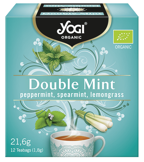 Био чай Двойна мента Yogi Organic 12 пакетчета