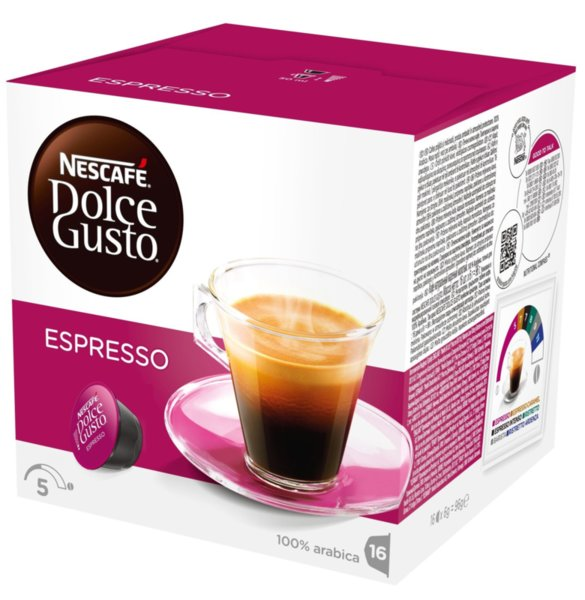 NESCAFE Dolce Gusto Espresso кафе капсули, 16 напитки