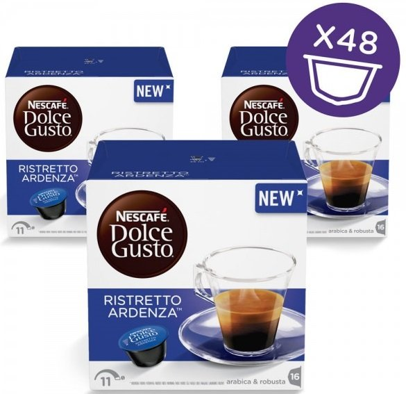 Пакет: 3 кутии Кафе капсули Dolce Gusto Ristretto Ardenza