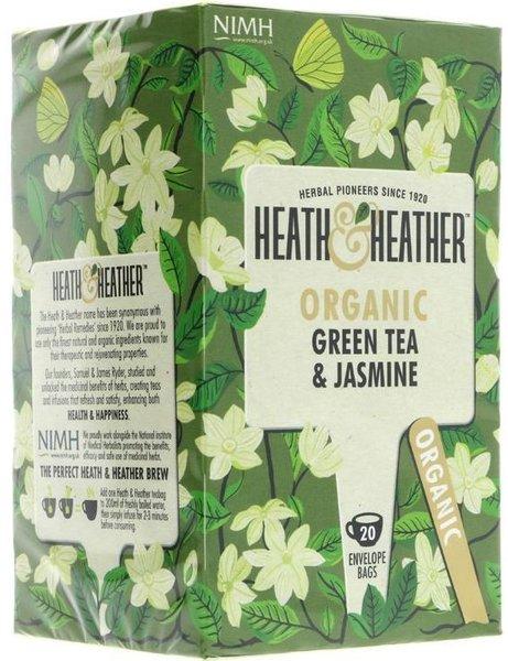 Био чай Heath & Heather зелен чай и жасмин 20бр х 1,5г