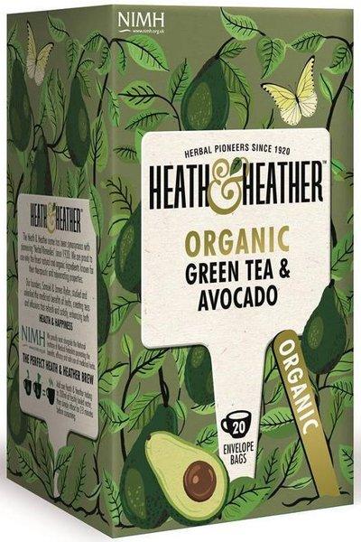 Био чай Heath & Heather зелен чай и авокадо 20бр х 2г