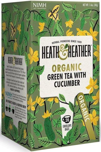 Био чай Heath & Heather зелен чай и краставица 20бр х 2г