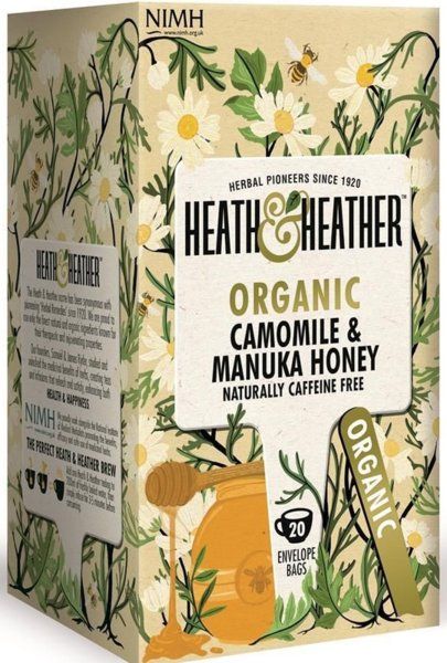 Био чай Heath & Heather зелен ройбос и мед от манука 20бр х 2г