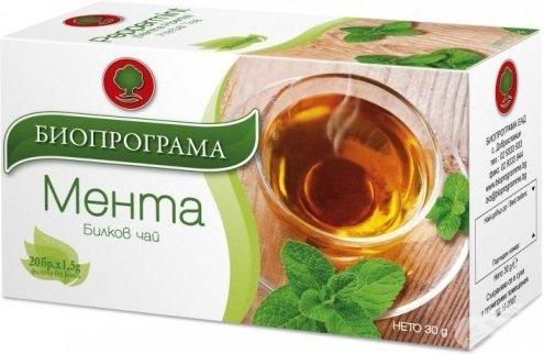 Чай Биопрограма мента 20бр