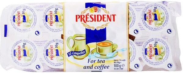 Сметанки за кафе President 10% 10бр * 10гр