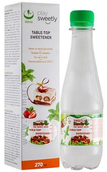 Подсладител Sweetly Stevia течен 270 мл