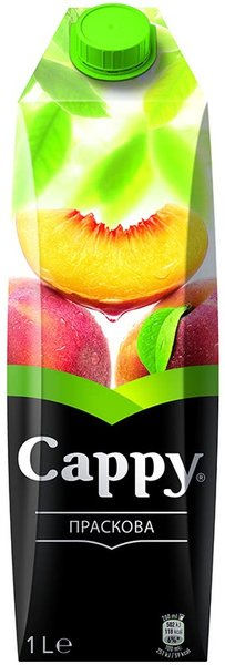 Плодова напитка CAPPY праскова 42% 1л