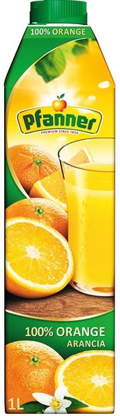 Сок Pfanner портокал 100% 1л