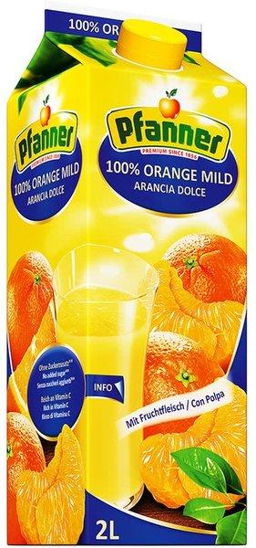 Сок Pfanner портокал Фреш с власинки 100% 2л