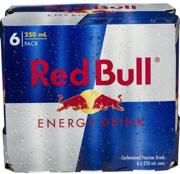 Пакет: Енергийна напитка Red Bull 6бр х 250мл