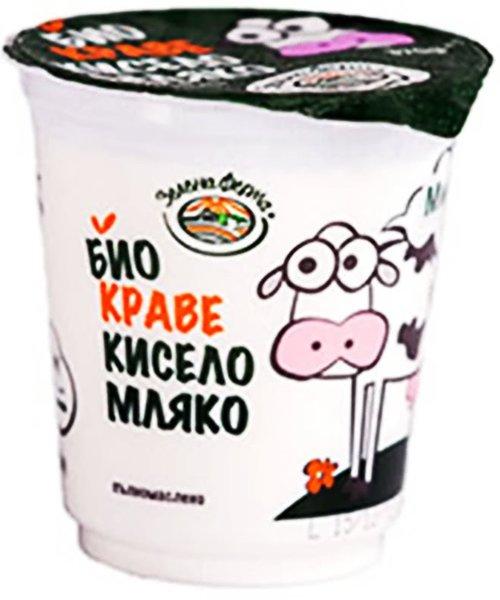 Био краве кисело мляко Зелена ферма 3,6% 370гр