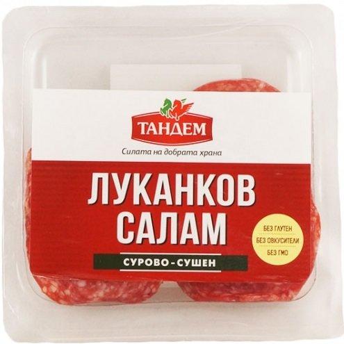Сурово-сушен луканков салам Тандем слайс 100г