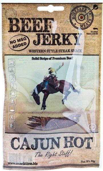 Сушено говеждо месо Cajun Hot Beef Jerky Bullseye Meats 50гр