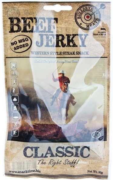 Сушено говеждо месо Classic Beef Jerky Bullseye Meats 50гр