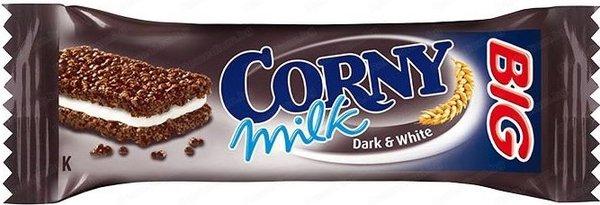 Мюсли бар CORNY с мляко Dark & White 40гр - сандвич