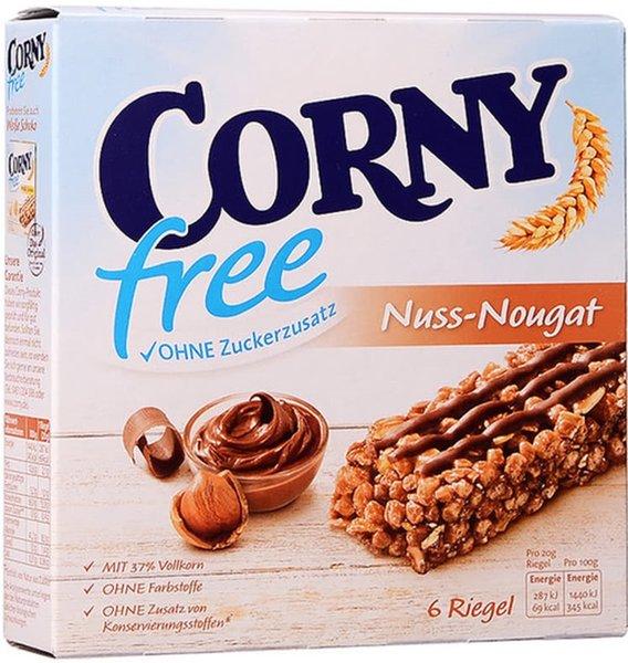 Мюсли барове CORNY Free с ядки и нуга 6х20гр