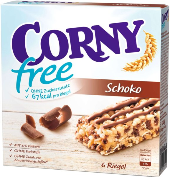Мюсли барове CORNY Free с шоколад 6х20гр