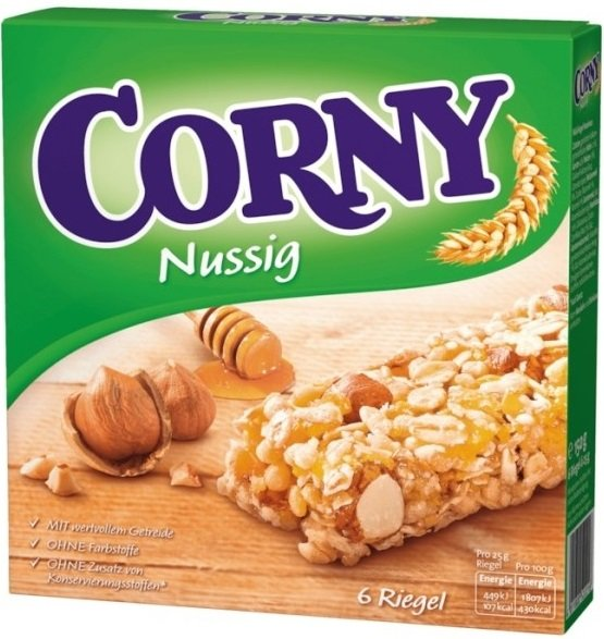 Мюсли бар с ядки Corny 6х25гр