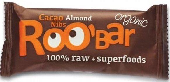 Десертен блок с какаови зърна и бадеми Roo'Bar 30гр