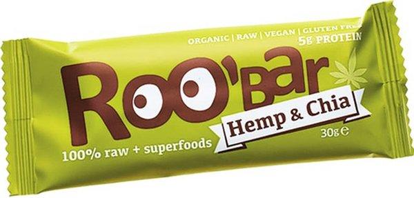 Десертен блок с конопен протеин и чия Roo'Bar 30гр