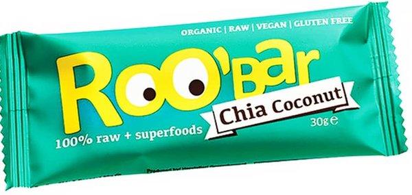 Десертен блок с чия и кокос Roo'Bar 30гр