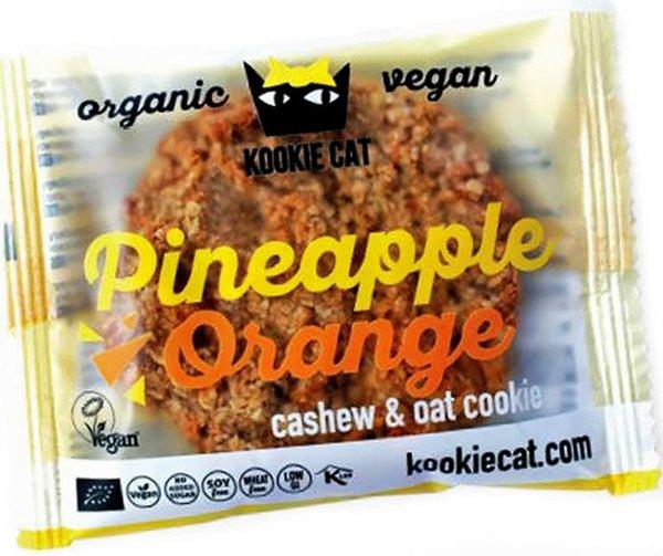 Био курабийка с ананас и портокал Kookie Cat 50гр - веган
