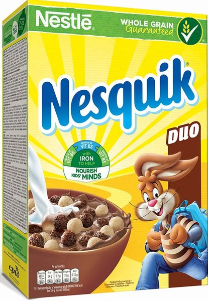 Зърнена закуска Nesquik Duo 325гр