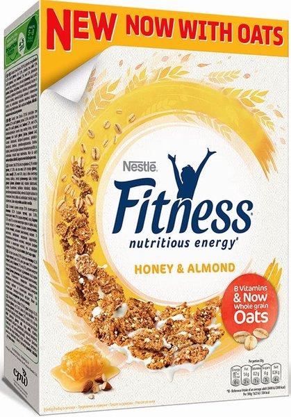 Зърнена закуска Nestle Fitness с мед и бадеми 355гр
