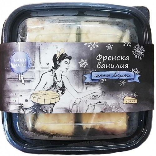 Сладоледена торта Arcobaleno Френска ванилия 4 парчета