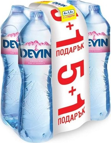 Изворна вода Девин 1,5л 5+1бр