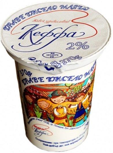 Фермерско краве кисело мляко Кеффа 2% 370гр