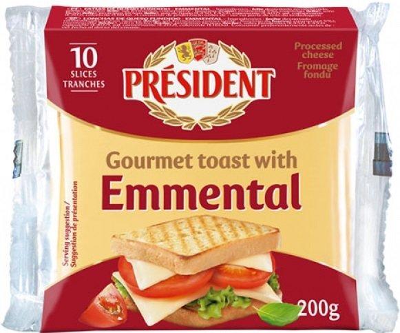 Сирене за тост с ементал President 200гр