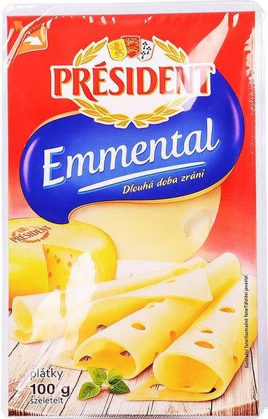Сирене Ементал President 45% масленост слайс 100гр