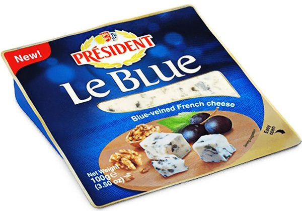 Синьо сирене President 100гр