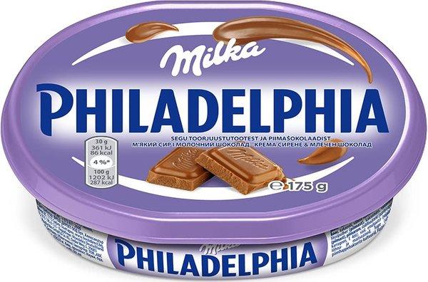 Крем сирене Philadelphia с шоколад Milka 175гр