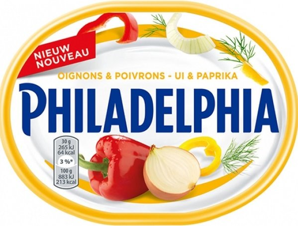 Крем сирене Philadelphia с Лук и Пиперки 175гр