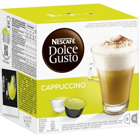 NESCAFE Dolce Gusto Cappuccino кафе капсули, 8 напитки