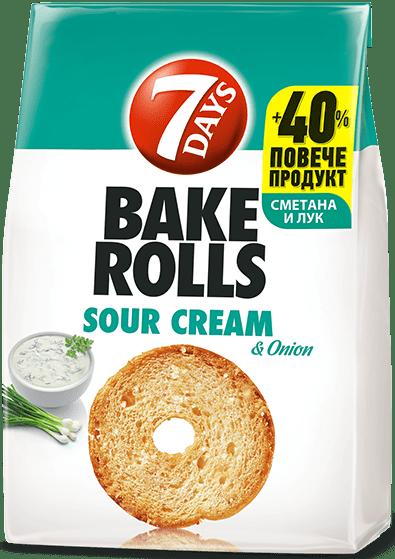 Bake Rolls 7 days със сметана и лук 112гр