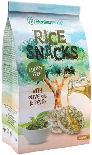 Оризов снакс със зехтин и песто Benlian Food 50гр - без глутен