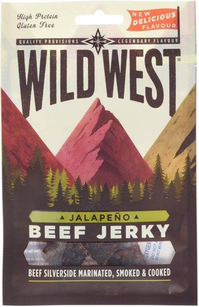 Сушено телешко Халапеньо Wild West Beef Jerky Jalapeno 25гр